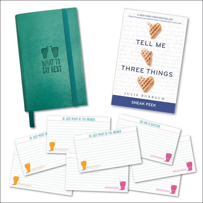 Enter the What to Say Next Sweepstakes