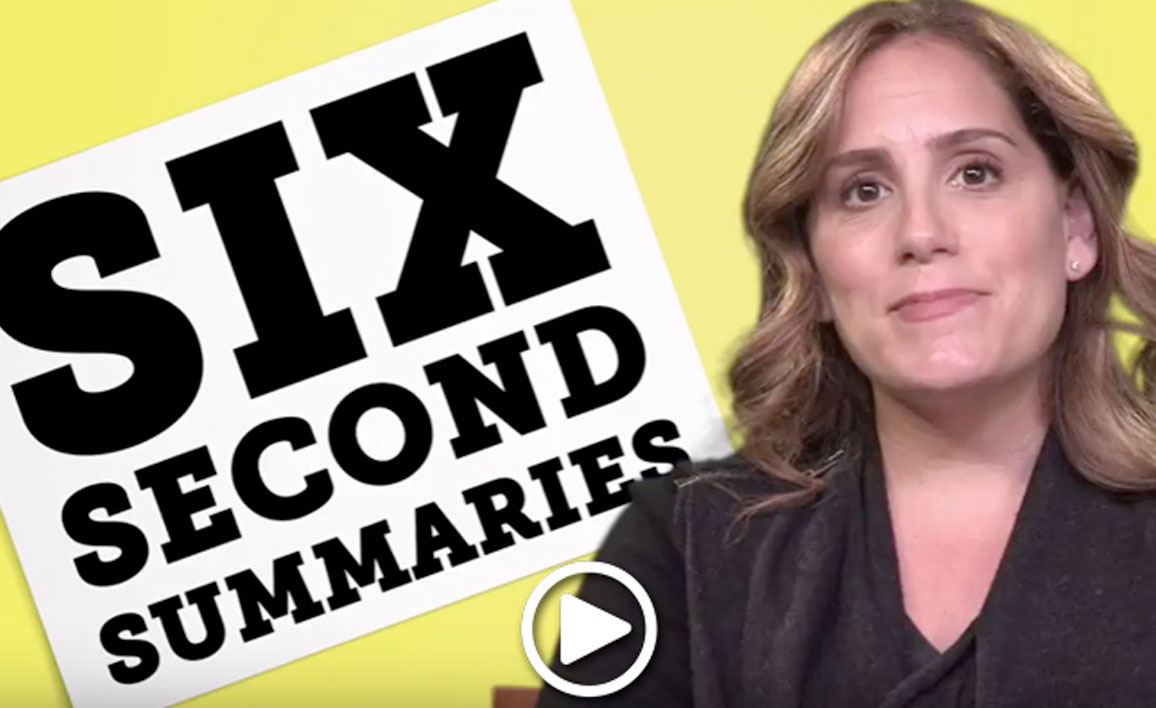 "VIDEO:   Author Julie Buxbaum Plays ""Six Second Summaries"" with Team Underlined"