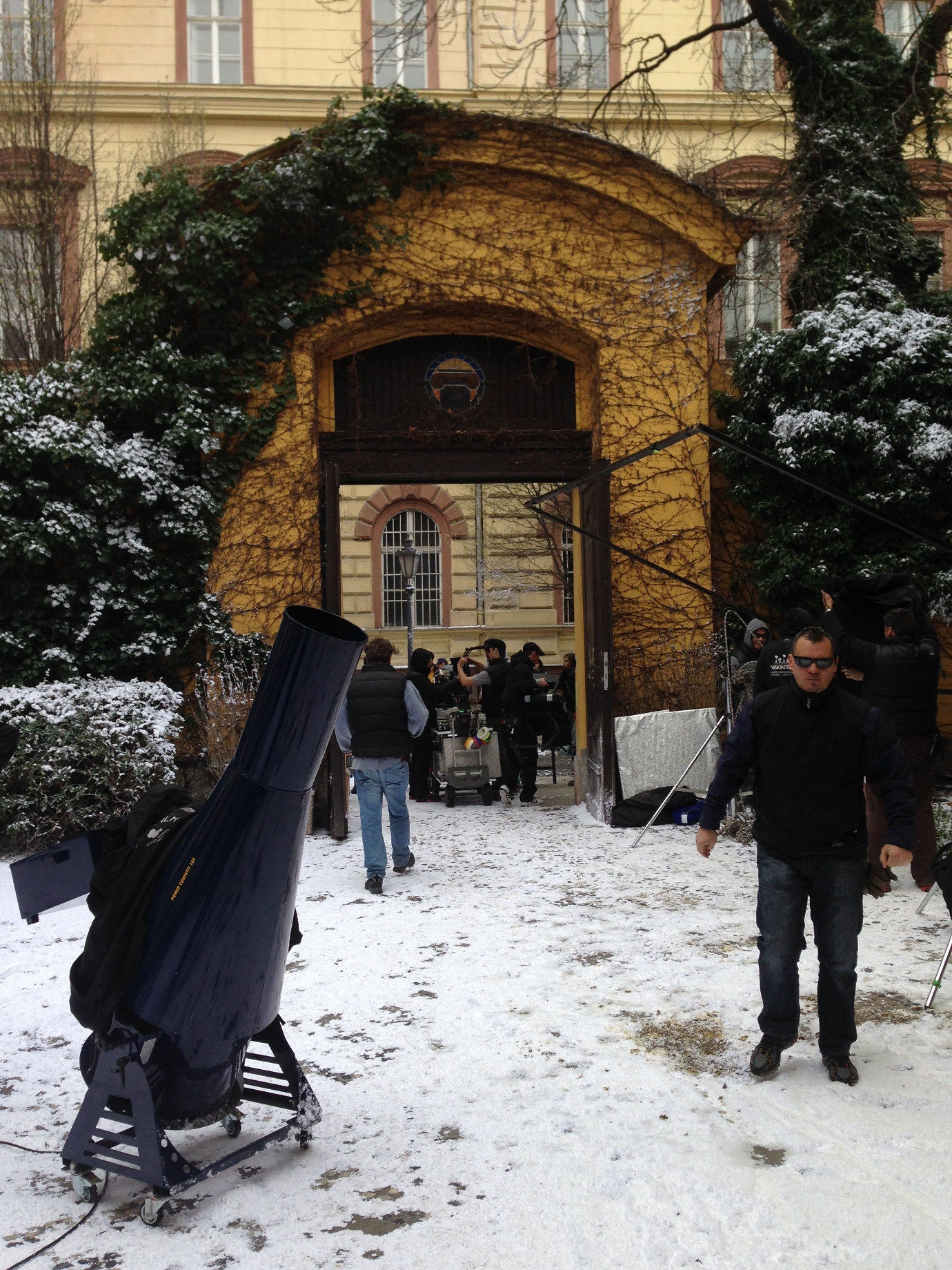 For one of the flashback scenes (to Russian Luce and Daniel), the crew had to make it snow on a balmy day in March.