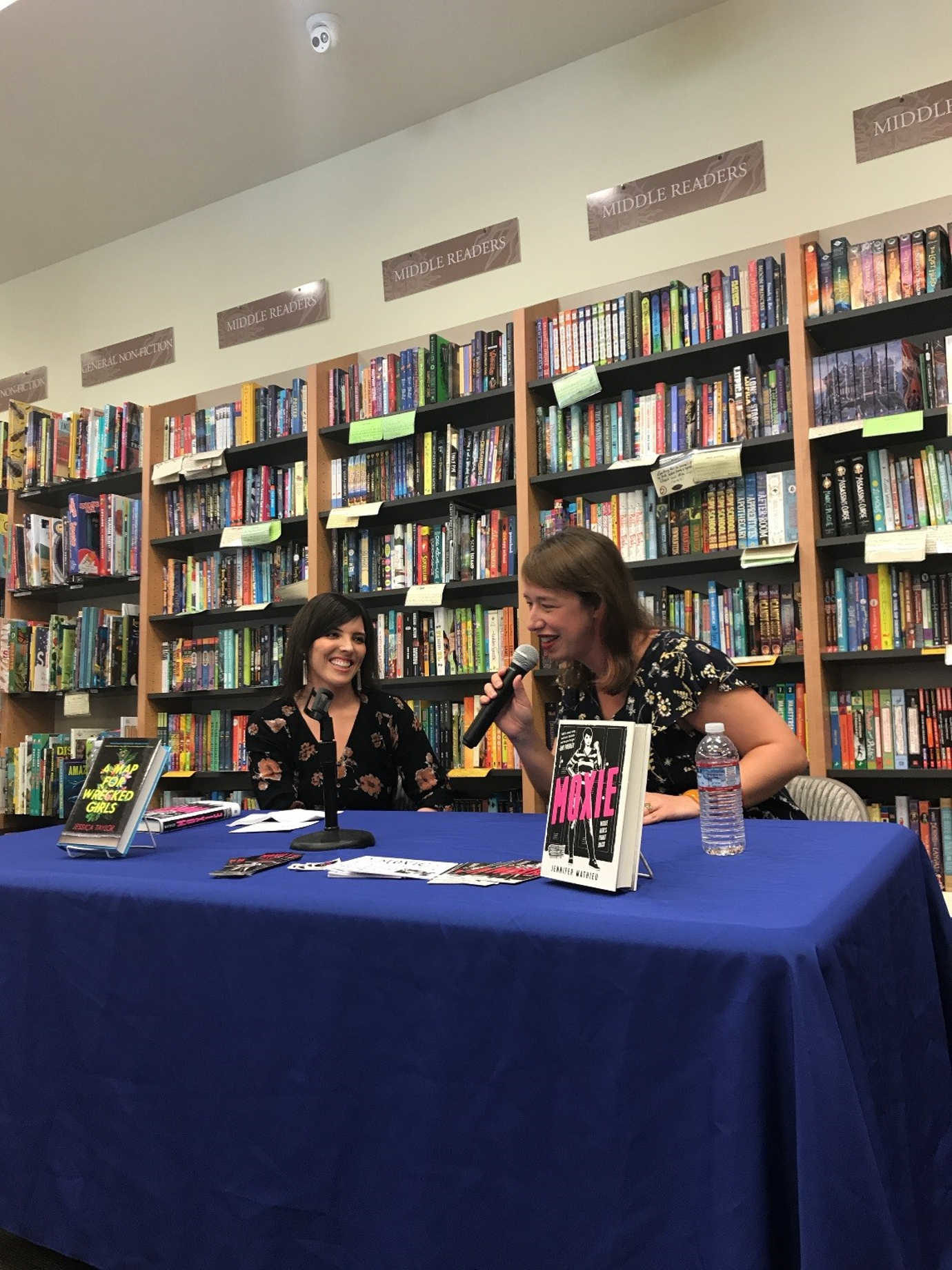Authors Jessica Taylor and Jennifer Mathieu talking about their new YA novels <em>A Map for Wrecked Girls</em> and <em>Moxie</em> at our store in Berkeley!