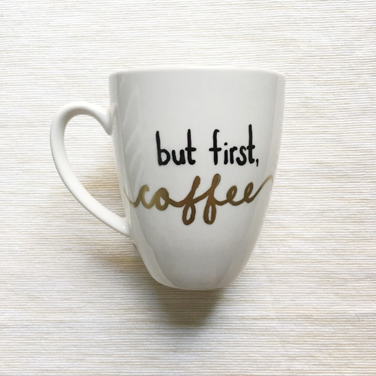 Diy Personalized Sharpie Mug Underlined