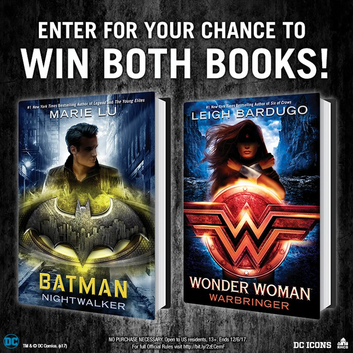 Enter the Batman: Nightwalker ARC and Signed Wonder Woman: Warbringer Sweepstakes