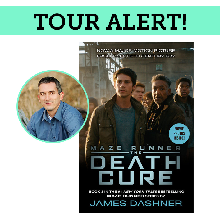 James Dashner is Touring to Celebrate The Death Cure Movie Launch!