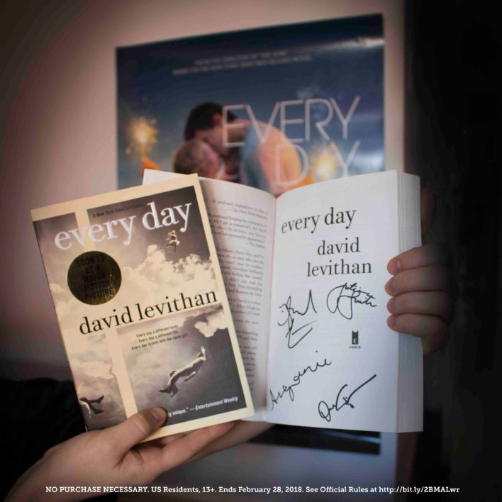 Enter the Every Day Signed Copy & Movie Poster Sweepstakes!