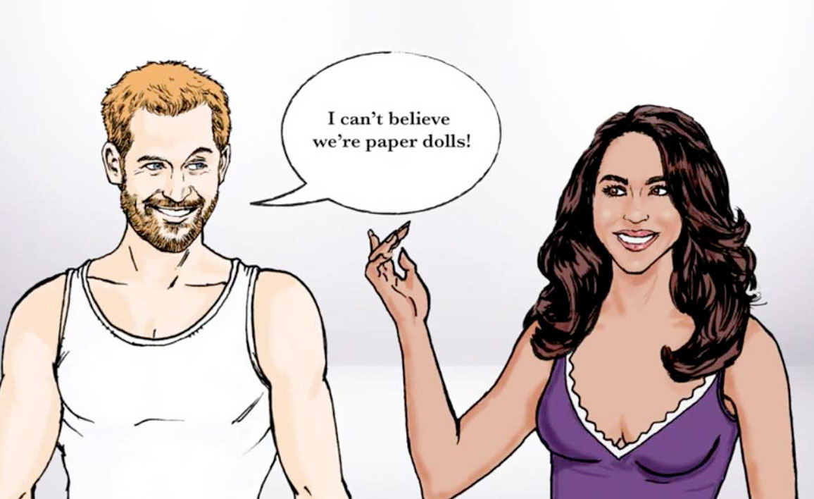 Did Someone Say Royal Wedding?! Watch the Harry & Meghan Paper Doll Video!