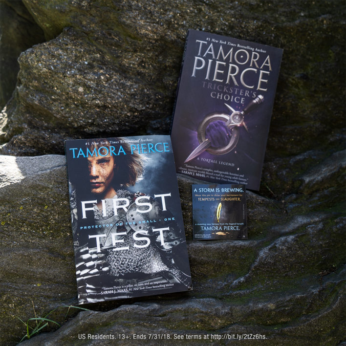 Enter the Tempests and Slaughter by Tamora Pierce Gift with Purchase Giveaway!