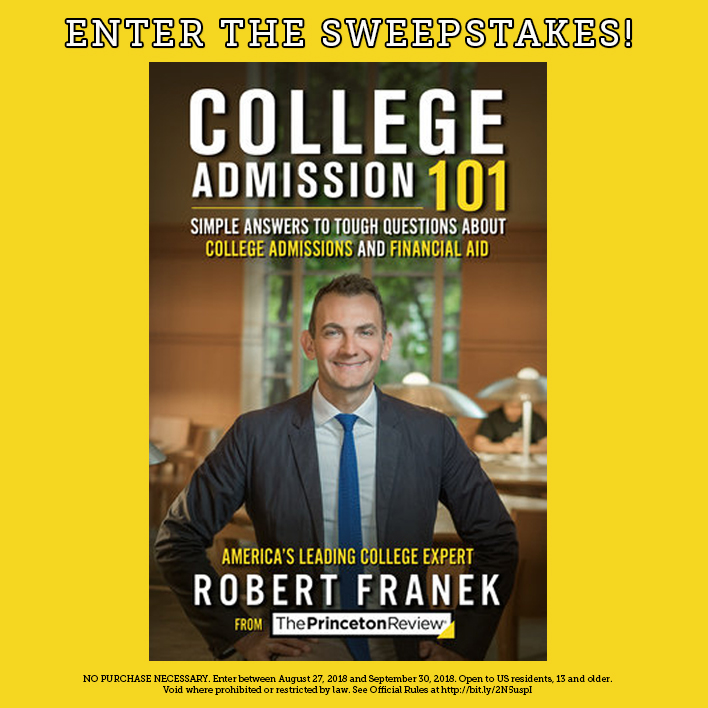 Enter the College Admission 101 Sweepstakes