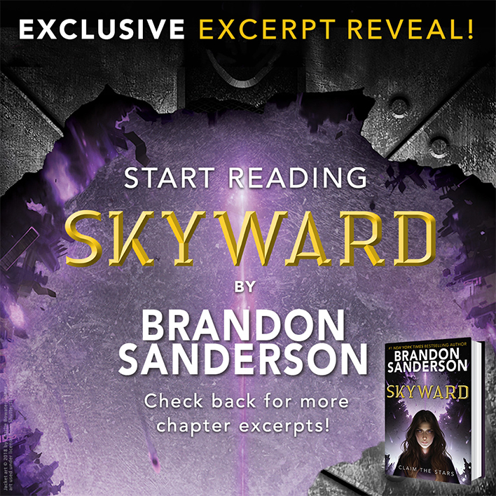 EXCERPT REVEAL! Start Reading Skyward by Brandon Sanderson
