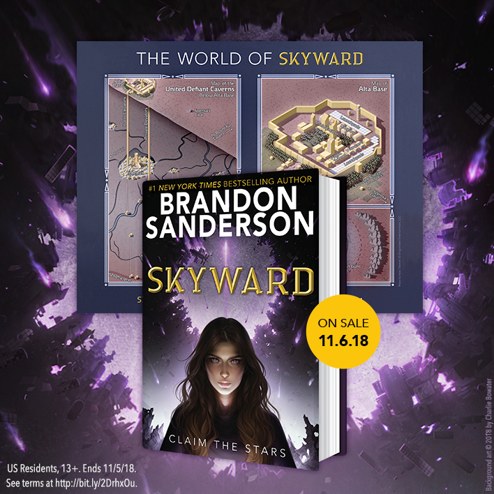 Enter the Skyward by Brandon Sanderson Pre-Order Giveaway!
