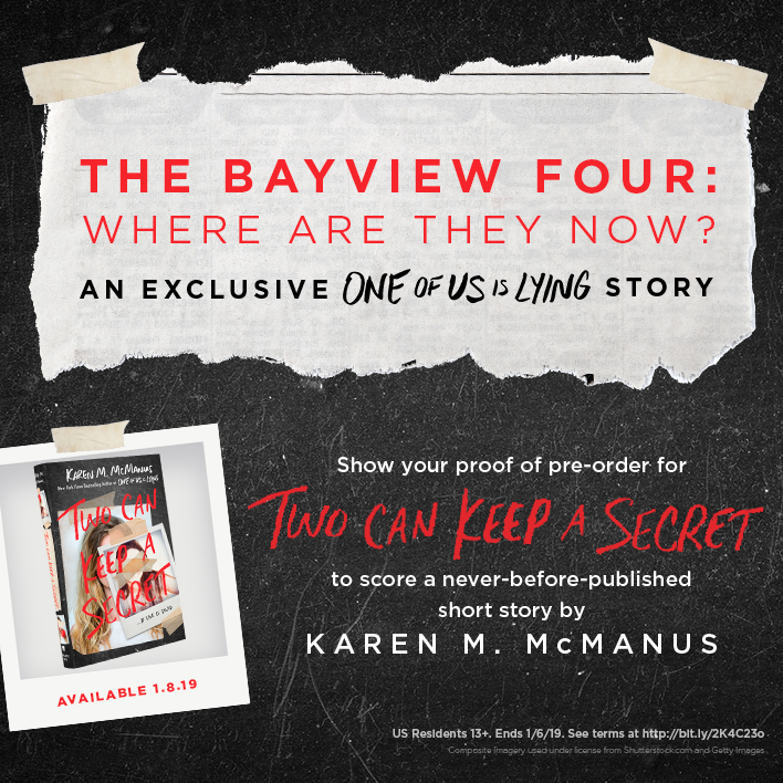 Enter the Two Can Keep a Secret by Karen M. McManus Pre-Order Giveaway