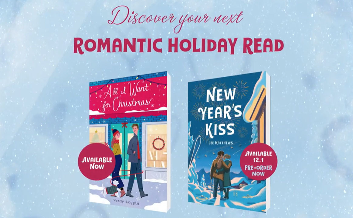 Watch the Festive Book Trailer for All I Want for Christmas and New Year's Kiss!