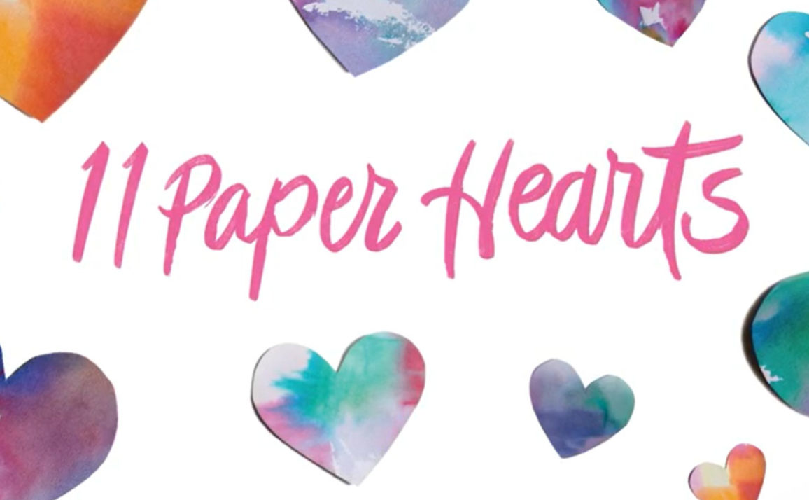 Watch the Adorable Trailer for 11 Paper Hearts by Kelsey Hartwell