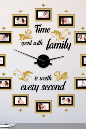 How to Make a Wall Clock With Photo Frames