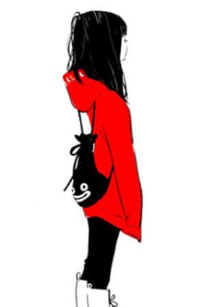~ The Girl with red ~